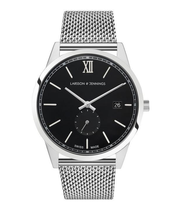 Saxon 39mm Silver-Black Milaenese Watch