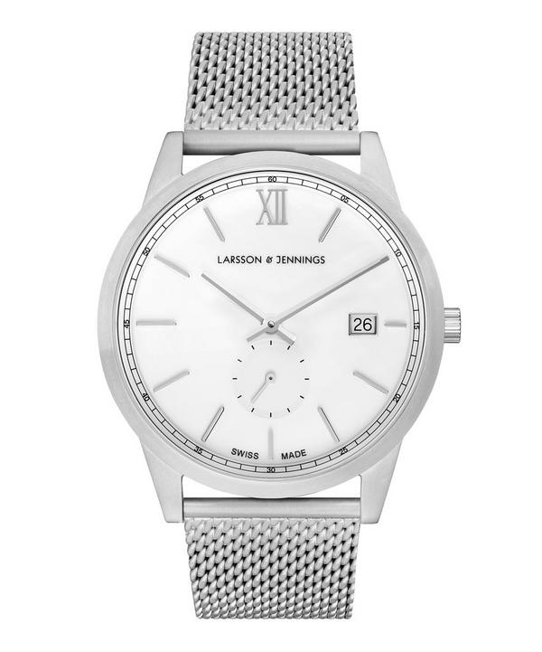 Saxon 39mm Silver-White Milaenese Watch