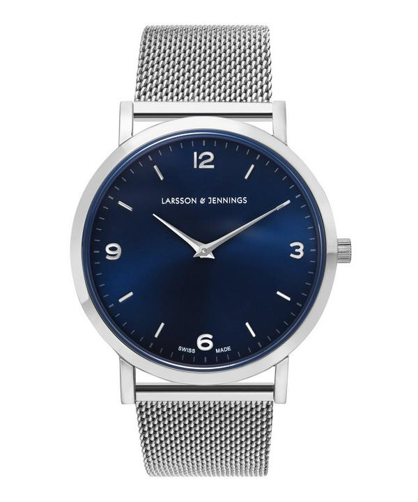 Lugano 38mm Silver-Navy Milanese Watch