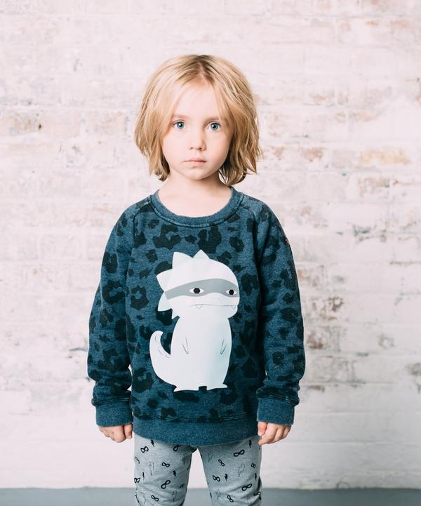 Leopard Print Dino Super Soft Sweatshirt