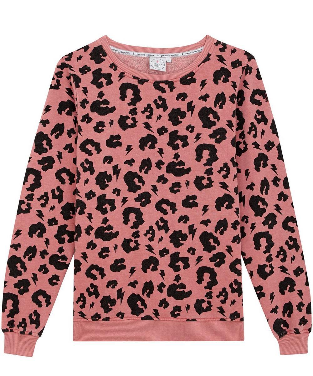 Leopard Print Slouchy Sweater XS-XL