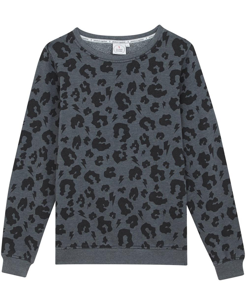 Leopard Print Slouchy Sweater XS-XL