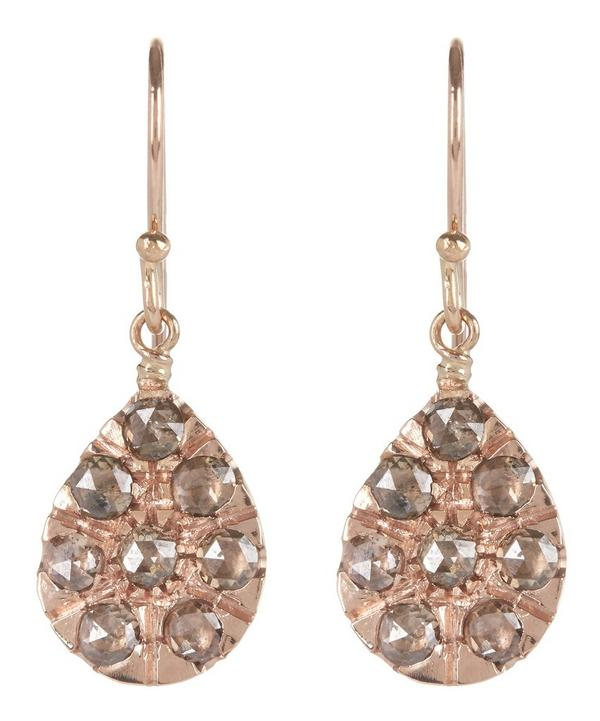 Small Rose Gold Teardrop Earrings