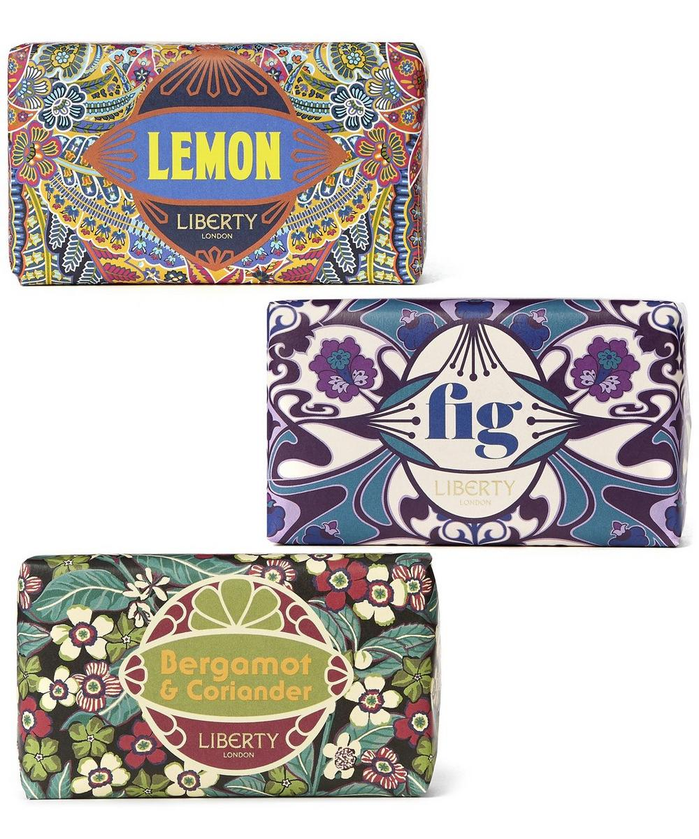 Trio Set of Bergamot, Lemon and Fig Soap