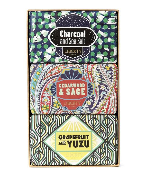 Trio Set of Cedarwood, Charcoal and Grapefruit Soap