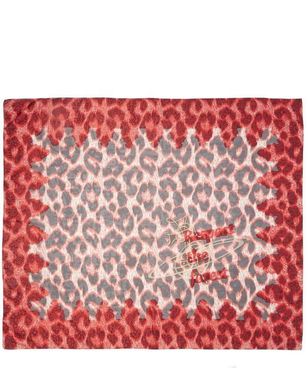 Leopard Lace Print Scarf