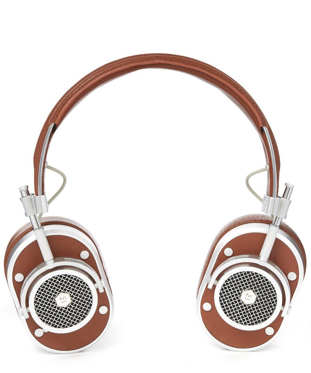 MH40 Leather Wired Over-Head Headphones