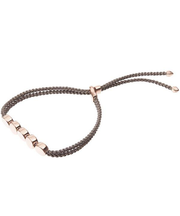 Rose Gold-Plated Linear Bead Friendship Bracelet