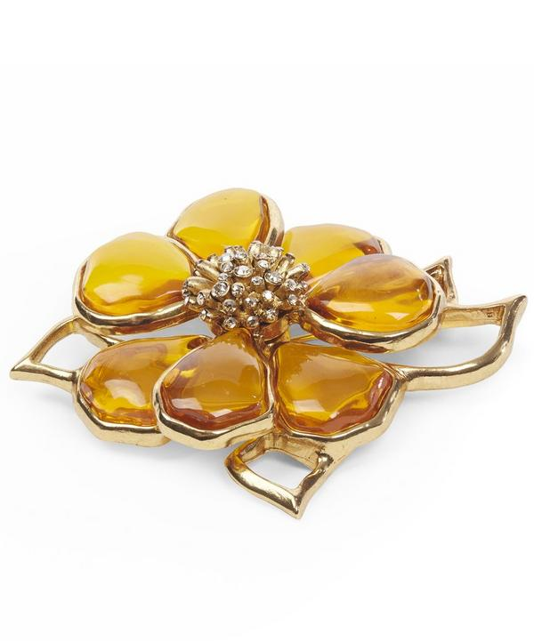 Stained Glass Flower Brooch