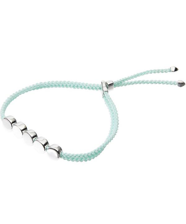 Silver Linear Bead Friendship Bracelet