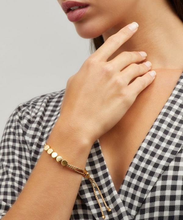 Gold-Plated Linear Bead Friendship Bracelet