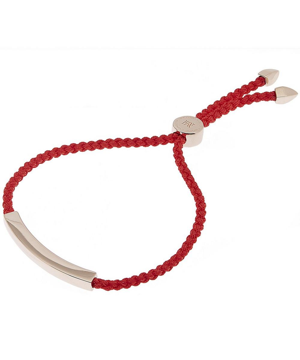 Rose Gold-Plated Linear Red Cord Friendship Bracelet