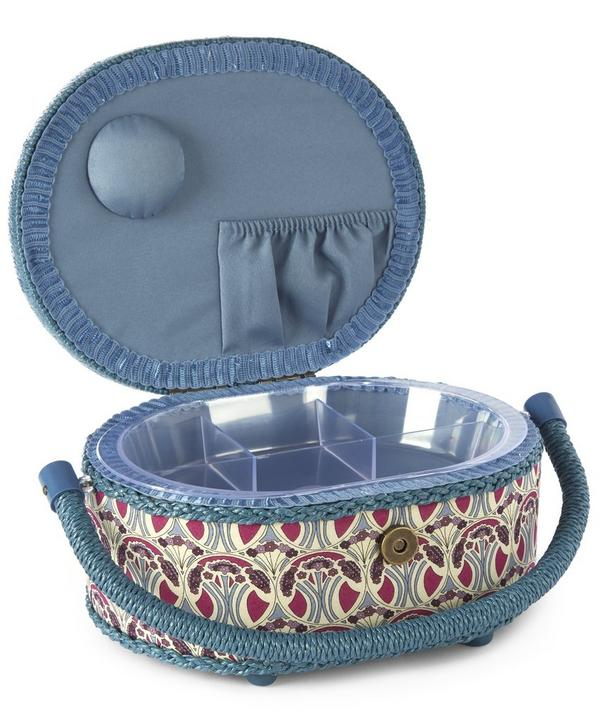 Small Oval Sewing Box