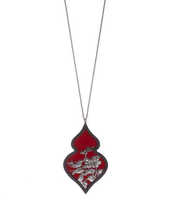 Silver Giardino Velvet Necklace