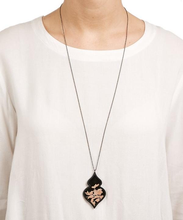 Rose Gold-Plated Giardino Velvet Necklace