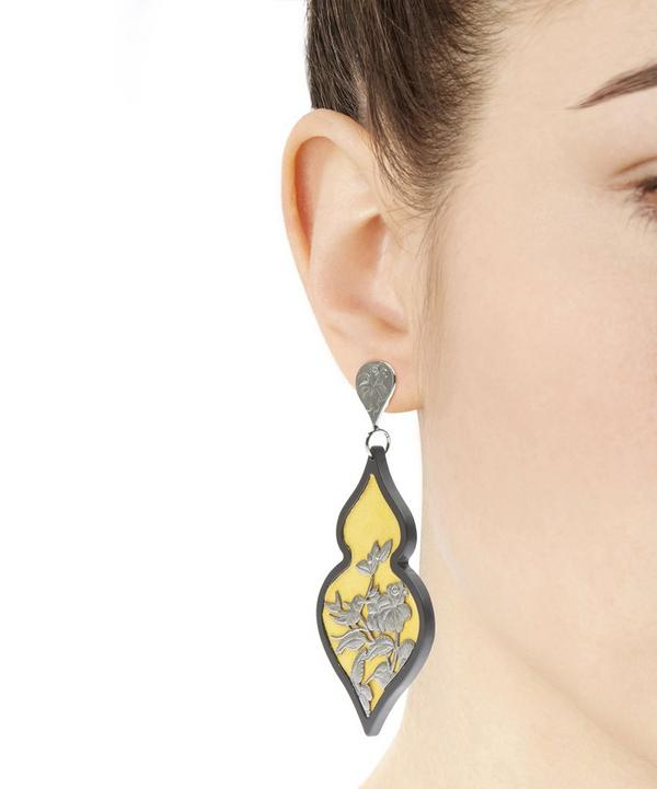 Silver Giardino Velvet Earrings
