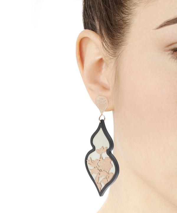 Rose Gold-Plated Giardino Velvet Earrings