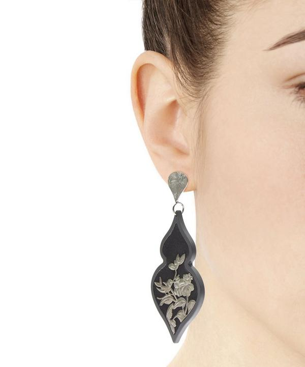Burnished Silver Giardino Velvet Earrings