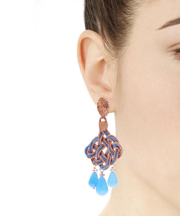 Quartz Lanterna Deco Earrings