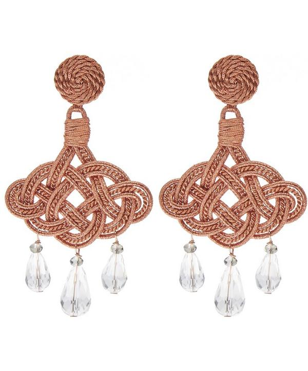 Crystal Jute Lanterna Deco Earrings