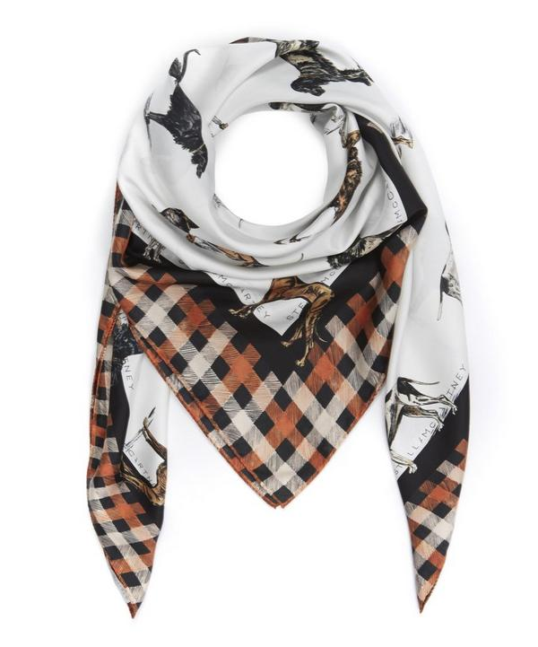 Silk Dog Print Scarf