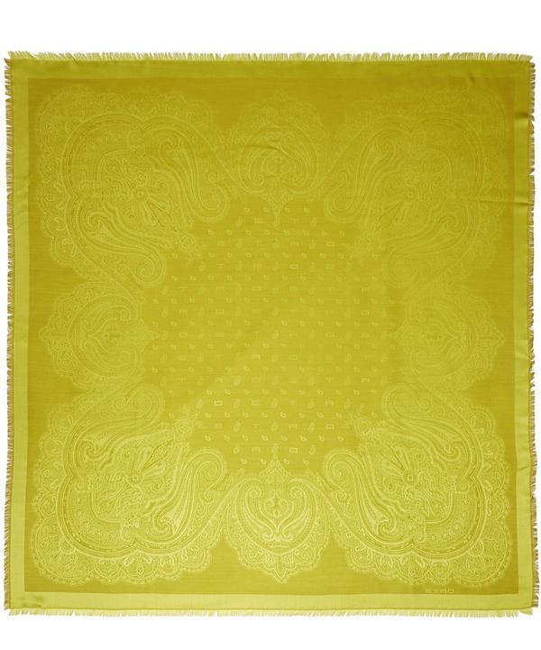 Logo Wool and Silk Blend Scarf