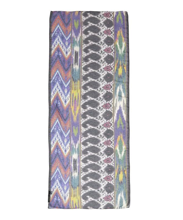 Delhi Ikat Linen Silk Scarf