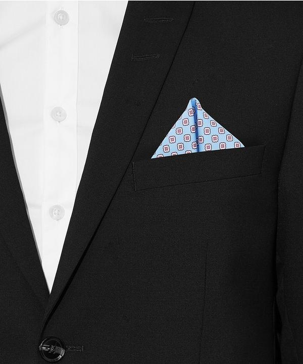 Diamond Floral Repeat Silk Pocket Scarf