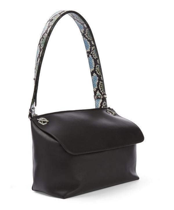 Boxit Medium Watersnake Strap Shoulder Bag