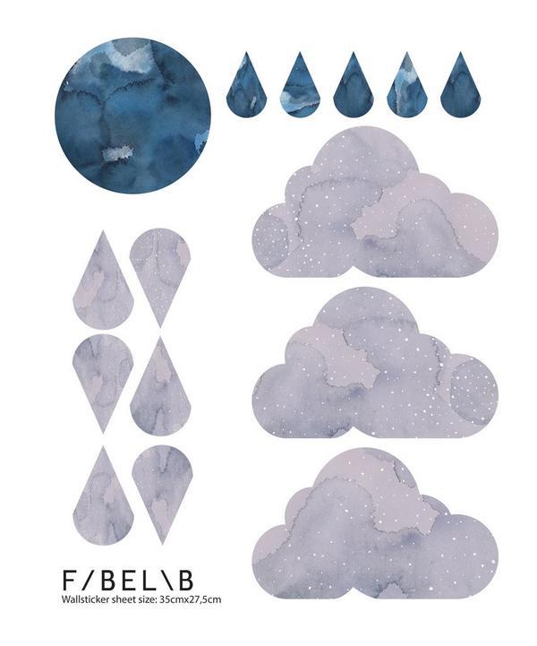 Dreamy Clouds Nightfall Wall Sticker