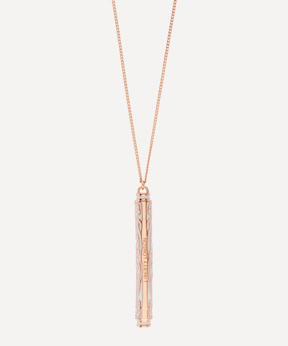 Ianthe Enamel Long Pendant Necklace