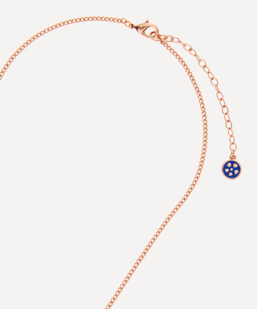 Ianthe Enamel Long Pendant Necklace