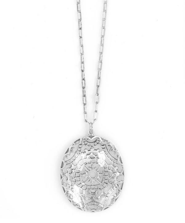 Silver and Crystal Tombolo Rocca Necklace