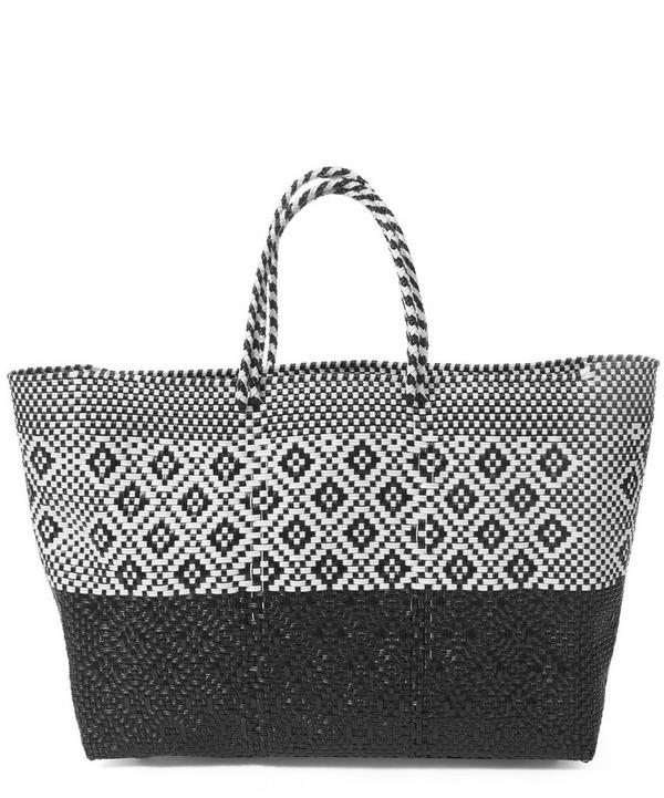 Large Woven Patterned Tote Bag
