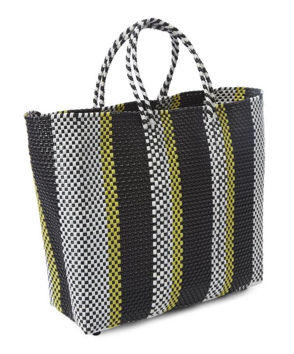 Medium Woven Stripe Tote Bag