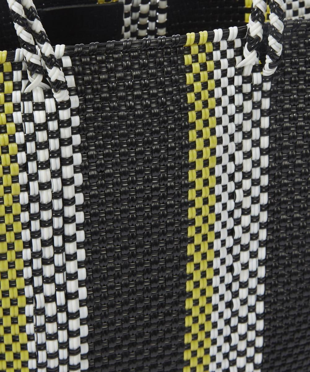 Medium Woven Stripe Tote Bag
