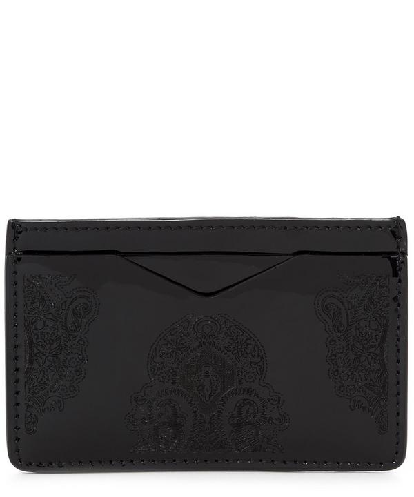 Paisley Embossed Patent Card Holder