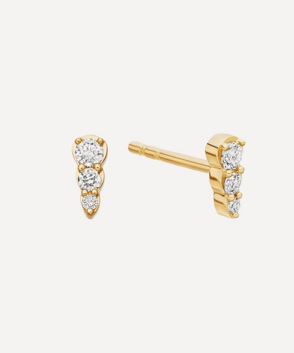 Gold Diamond Mini Interstellar Stud Earrings