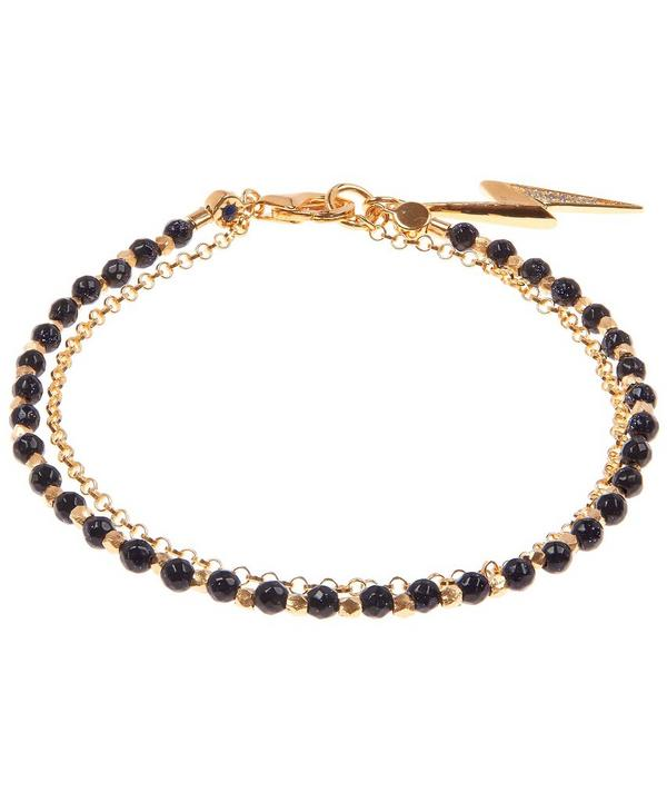 Gold Midnight Lightening Bold Biography Bracelet