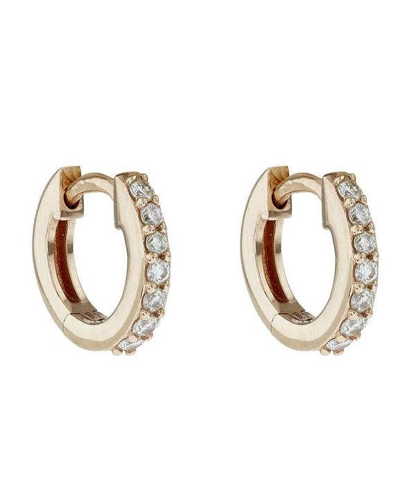 Rose Gold Mini Halo Hoop Earrings