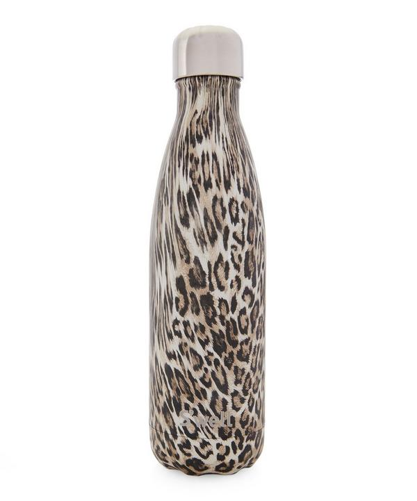 Khaki Cheetah Water Bottle