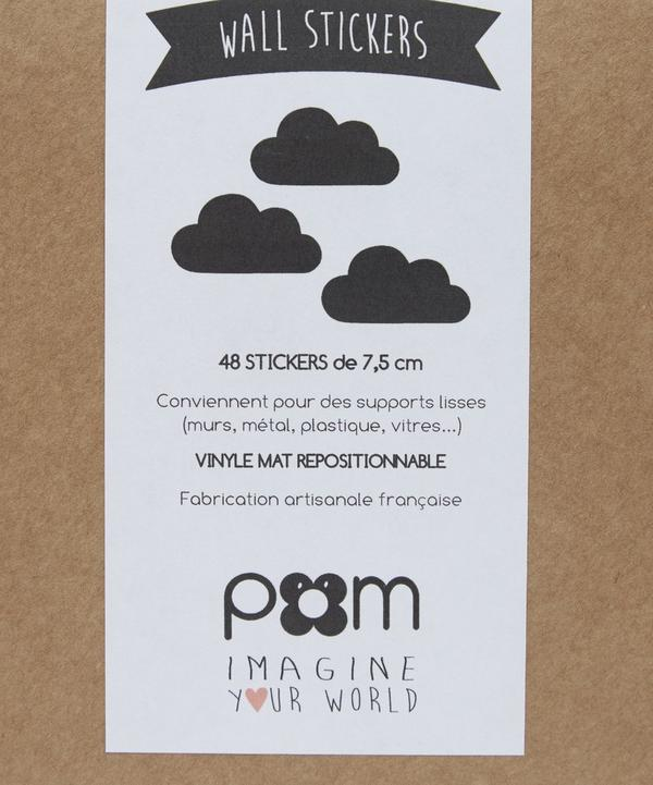 Black Cloud Wall Stickers