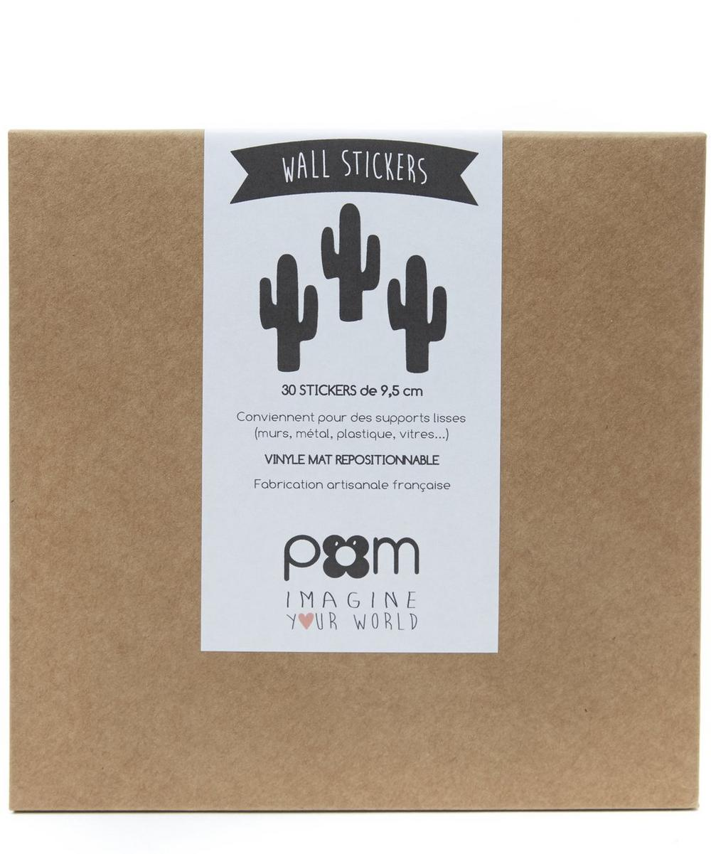 Black Cactus Wall Stickers
