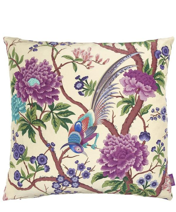 Elyisian Paradise Silk and Linen Cushion