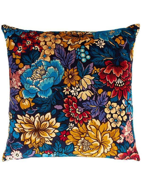 Garden of Beauty Velvet Cushion
