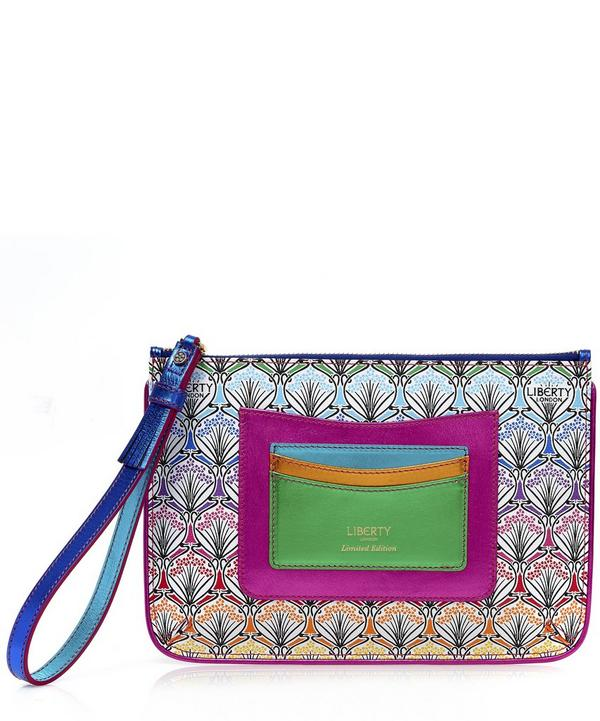 Wristlet in Rainbow Canvas