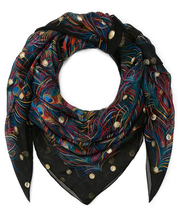 Orion Lurex Spot 140 x 200 Silk Scarf