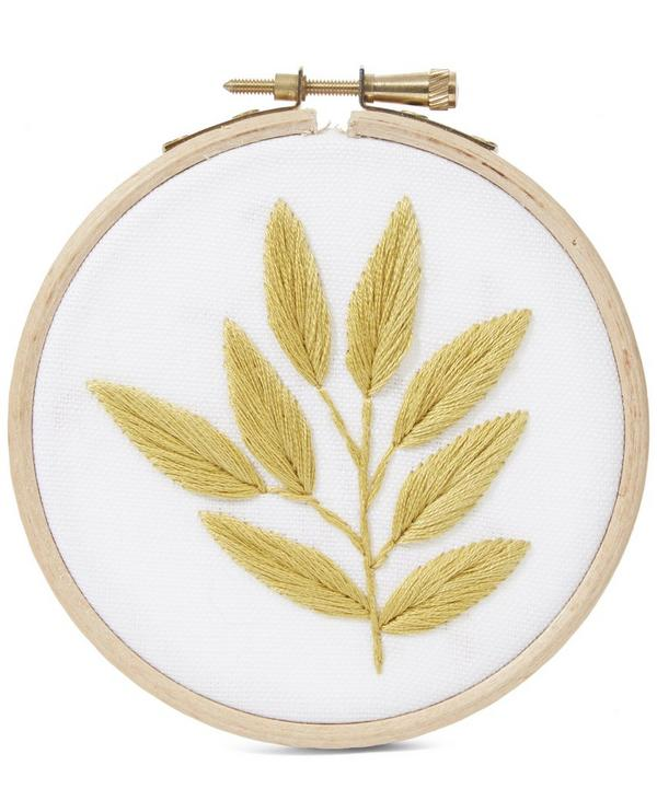 4 Inch Yellow Leaf Hoop