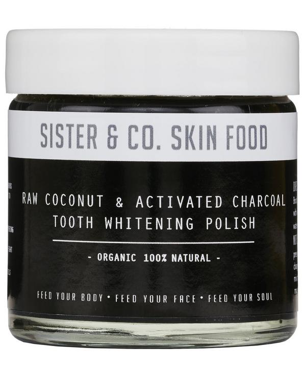 Raw Coconut and Activated Charcoal Tooth Whitening Polish