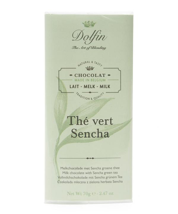 Dolfin Milk Chocolate With Sencha Green Tea 70g